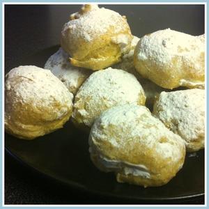 Рецепт Заварные булочки с творожным кремом диетические