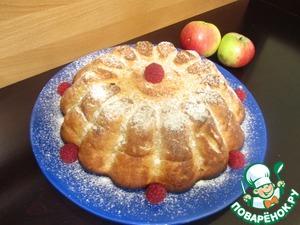 Рецепт Творожно-яблочная запеканка с кукурузными хлопьями