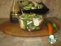 Салат из свежих шампиньонов и огурцов ингредиенты