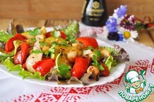Рецепт Салат-гриль с гребешком и овощами