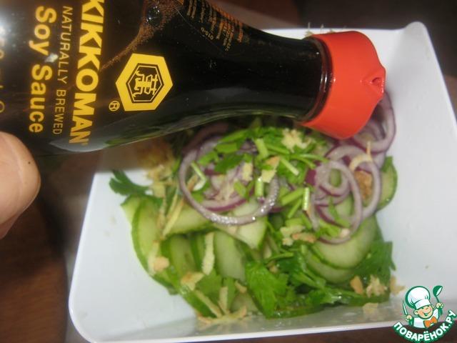 Рецепт салата из языка говяжьего с огурцом