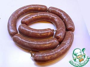 Рецепт Колбаса печёночная с чечевицей
