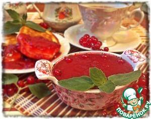 Домашний рецепт приготовления с фото Смородиновый соус с мятой