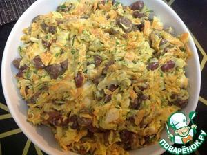 Рецепт Салат с фасолью и копченой курицей