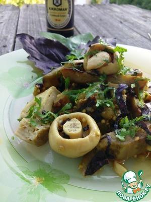 Как готовить Салат из баклажанов с грибами пошаговый рецепт приготовления с фото