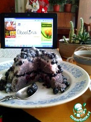 Рецепт Черничный десерт к чаю
