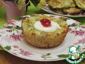 Рецепт Сырные маффины с кабачками