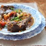 Марокканское рагу из баранины, нута и овощей