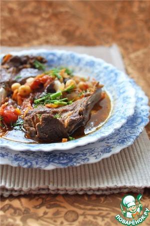 Рецепт Марокканское рагу из баранины, нута и овощей