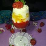 Клубнично-яблочный десерт