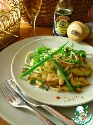 Рецепт Салат с белыми грибами и спагетти