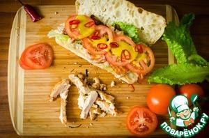 Рецепт Сендвич с курицей и беконом. Просто рецепт