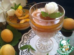 Рецепт Медовая панна котта с абрикосовым желе