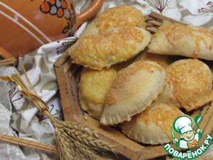 Рецепт Слоеные пирожки с грибами и фаршем
