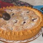Сливовый пирог с миндальным кремом