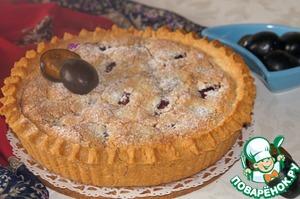 Рецепт Сливовый пирог с миндальным кремом