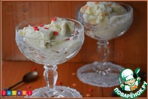 Рецепт: Зефирно-кокосовое мороженое