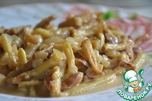 Рецепт Стручковая фасоль в сметане