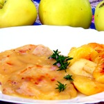 Отбивные в яблочном соусе