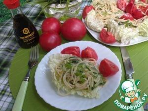 Рецепт Салат из спагетти