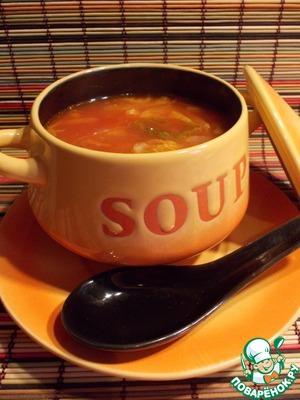 Томатный суп с перловкой и китайской капустой пошаговый рецепт с фото