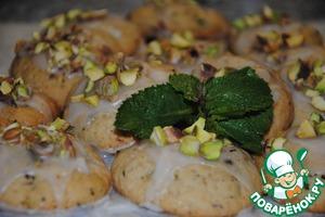Рецепт Лимонное печенье с мятой и фисташками