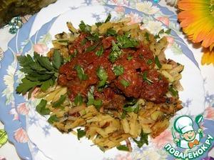 Рецепт Говядина в красном соусе