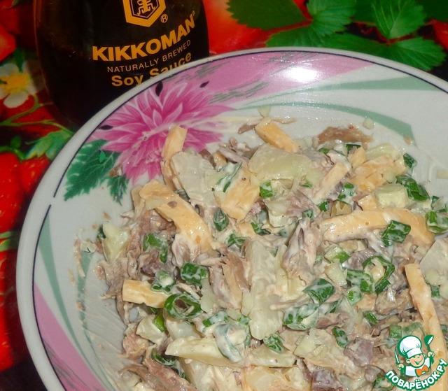 Рецепты мясных салатов пошагово с фото