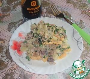 Рецепт Мясной салат с сыром