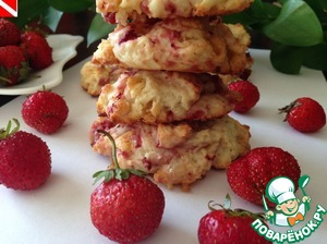 Рецепт Клубничное печенье с белым шоколадом