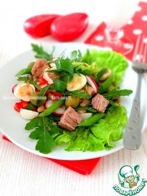 Рецепт Овощной салат с тунцом и фасолью