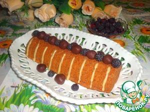 Рецепт Кекс-рулет с ежевикой