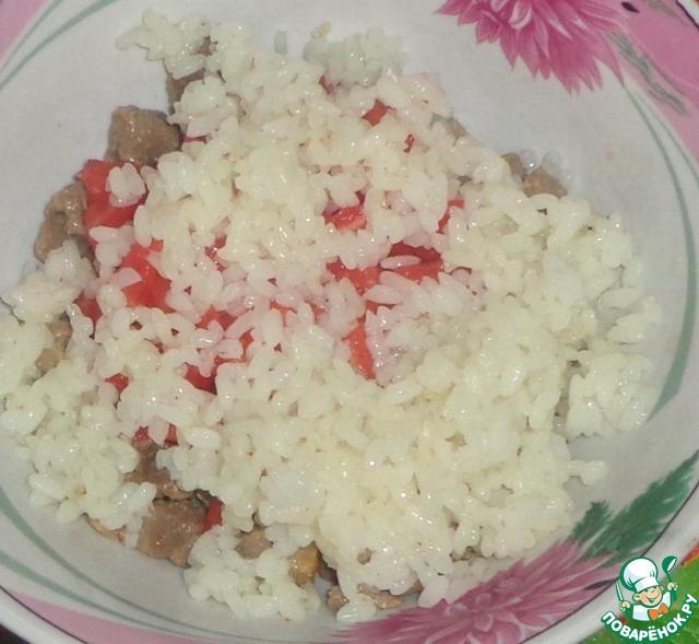 Кабачок рис мясо рецепт
