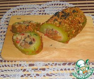 Рецепт Кабачок, фаршированный мясом и рисом