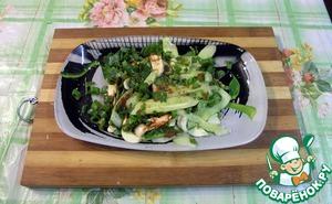 Рецепт Корейский салат из огурцов и кинзы