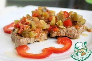 "Рецепт Говядина ""Маринейро"" (под овощами)"