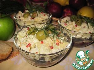 Рецепт Салат из кильки с яблоком и свеклой