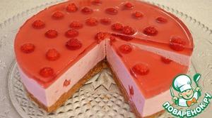 Рецепт Творожно-малиновый десерт