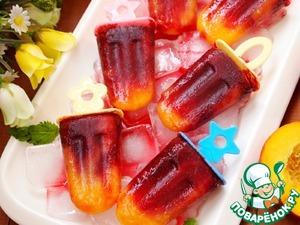 Рецепт Персиково-вишневый фруктовый лед