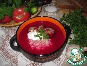 Рецепт Свекольно-томатный суп-пюре с кус-кусом