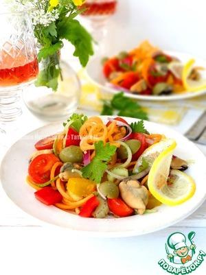 Рецепт Салат из овощей с мидиями