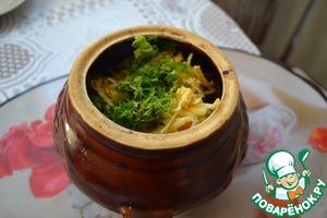 Рецепт Картошка с охотничьими колбасками в горшочках