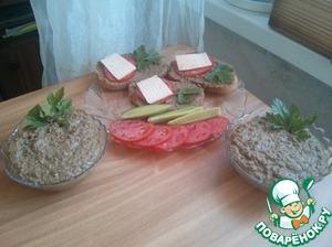 Рецепт Домашний сливочный паштет из утиной печени