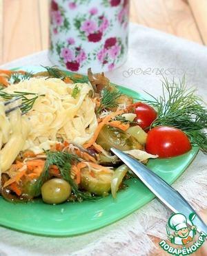 Рецепт Тальятелле с овощами и соусом Терияки