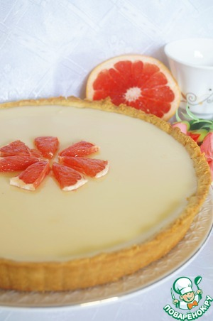 Рецепт Тарт с грейпфрутовым кремом