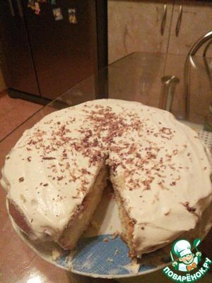 Рецепт Бисквит с нежным творожным кремом
