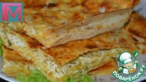 Рецепт Ленивые хачапури с творогом и чесноком