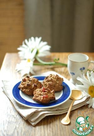 Рецепт Песочное цельнозерновое печенье с вишней и шоколадом