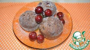 Маффины с шоколадом и вишнями вкусный рецепт с фотографиями пошагово как приготовить