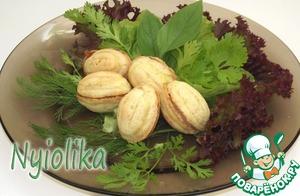 Рецепт Сырные орешки с начинкой